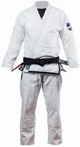 DO OR DIE HYPERFLY 柔術衣 Premium 白/ブルテリア HYPERFLY 柔術衣 練習用 試合用 ブラジリアン柔術 BJJ 柔道 大人用 男女兼用 丈夫な生地 専用袋付き  A4