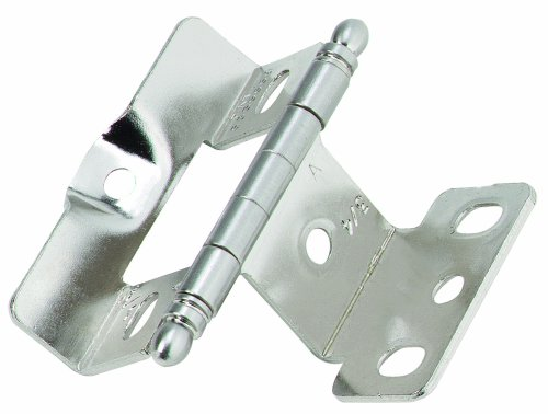 Sterling Door Hinges (Amerock PK3175TBG9 Full Inset, Full Wrap, Ball Tip Hinge with 3/4in(19mm) Door Thick. - Sterling)