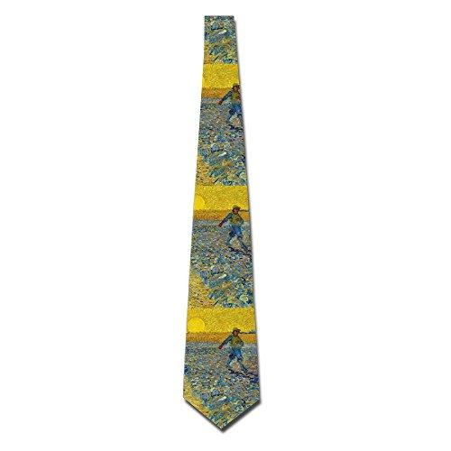 Mens Van Gogh Oil Painting Fashion Silk Ties Personalized Gift Neckties ()