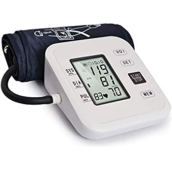 Blood Pressure Monitor Automatic Upper Arm Digital BP Dual User Mode+99 Set Memory Per Person for Home Use with Adjustable Cuff LCD & Talking