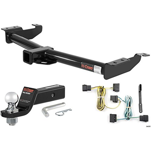 CURT Class 3 Trailer Hitch Tow Package with 2″ Ball for Ford E-150, E-250, E-350