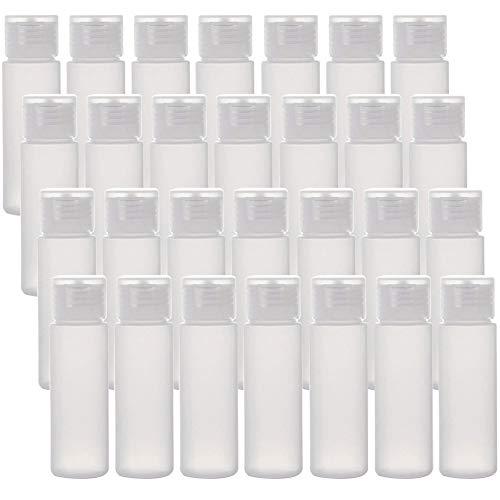 MEACOLIA 28 Pcs 50ml/1.7oz Travel Size Squeeze Bottles with Flip Cap Empty Plastic TSA Approved Travel Bottles…