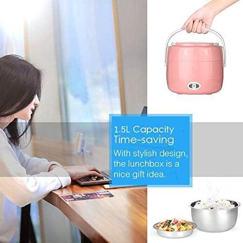 Mini Cuiseur à Riz Boîte à Lunch Multifonction De Cuisson 1,5 litres Cuiseur à Riz en Acier Inoxydable