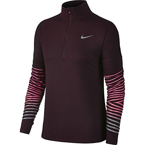 racer De 856608 Réfléchissant 652 Femme Manches Pink Haut À Running Port Nike Wine Longues a1wqZ7fa