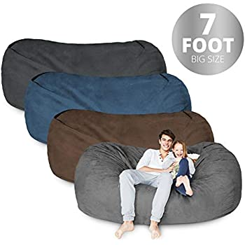 Amazon Com Bean Bag Chair 7 Foot Amp Navy Blue