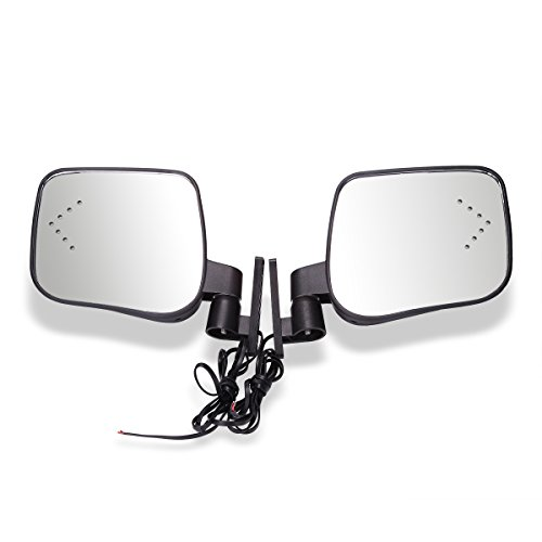 World 9.99 MallGas & Electric Golf Carts Side Rear View Signal Mirror Set with Turn Signals for EZGO Club Car Yamaha
