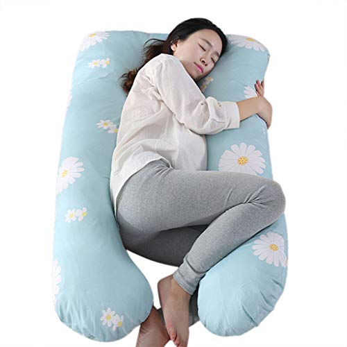 U-shaped Pillow, lkoezi Pregnancy Cotton Pillow Maternity Belly Contoured Body U Shape Extra Pregnant Cushion Lumbar Pillow (Multicolor G, Free Size)