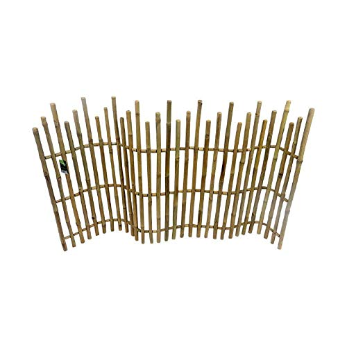 Master Garden Products Bamboo Picket Rolled Fence, 5