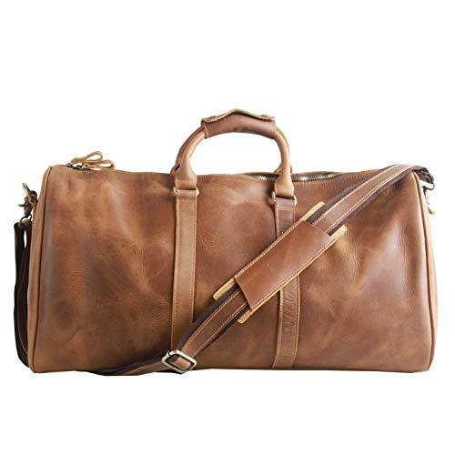 AKGOO Leather Duffel Bag For Men 21