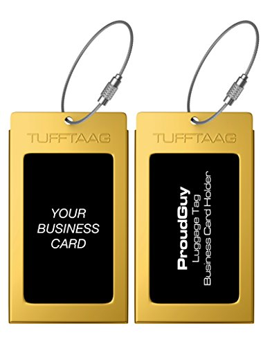 Luggage tag business card holder tufftaag single travel id for Tufftaag luggage tags