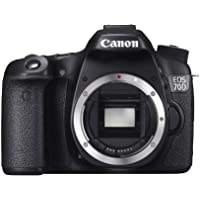 Canon EOS 70D (8469B002) Digital SLR Cameras Black 20.2 MP Digital SLR Camera - Body