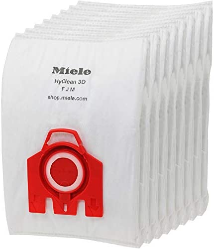 Miele FJM HyClean 3D Bags (Pack of 8) + Tab Fresheners for C1 C2 S4 S4000 S6 S6000 S6210 S6220 Cat & Dog S7 S7000 Vacuum Cleaner
