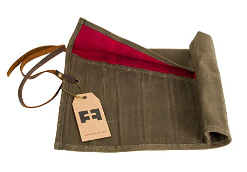the TOOL ROLL | 16 ounce hard waxed cotton canvas pouch by FAT FELT