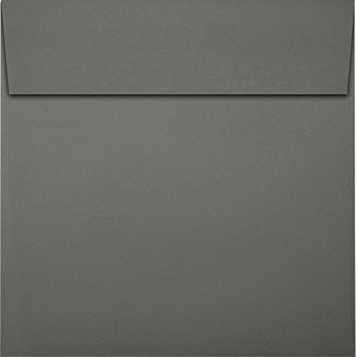 6 1/2 x 6 1/2 Square Envelopes - Smoke (50 Qty) | Perfect for Invitations, Announcements, Greeting Cards, Photos | EX8535-22-50