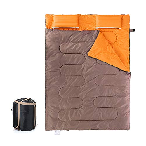 Disaster Prevention Sleeping Bag Envelope Type Waterproof Shrub Camp Easy Storage Climbing Mountain Climbing Night for Camping Supplies (Color : Brown, Size : One Size)