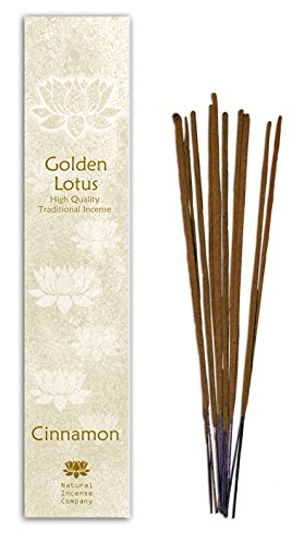 Cinnamon - Natural Incense Sticks 10 Pzs - Golden Lotus - Natural Incense Company