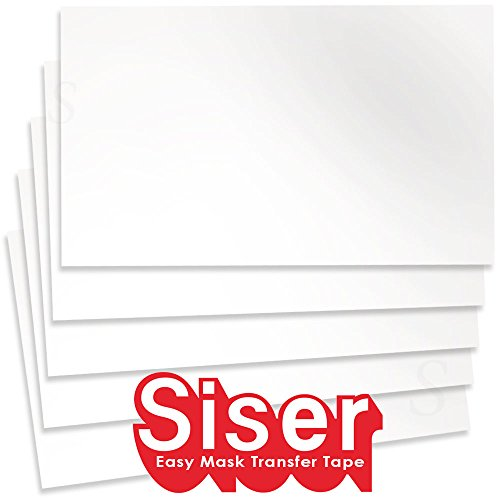 Siser Heat Resistant Transfer Material 20 Inches by 1 Foot - 5 Pack