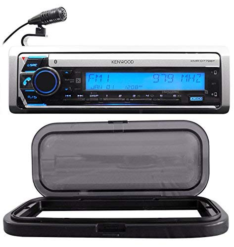Kenwood KMR-D772BT Marine Boat CD Receiver w/Bluetooth USB/MP3/WMA+Splash Guard