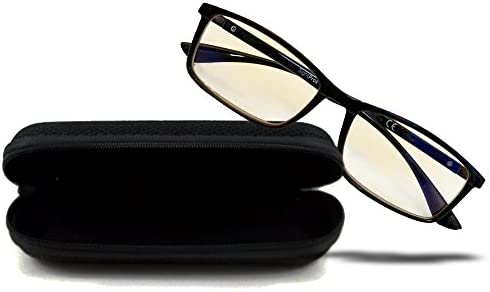 SightPros Computer Glasses- Blue Blocker reading glass for men and women- reduces eye stain and fatigue … (+1.50 D)