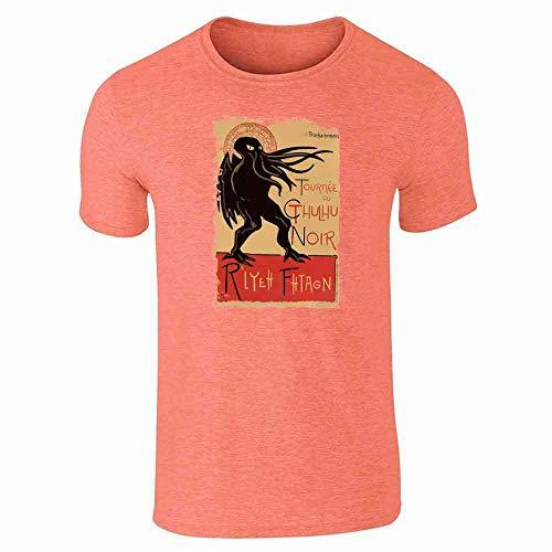 Cthulhu Noir Halloween Costume Funny Monster Heather Orange 3XL Short Sleeve T-Shirt]()