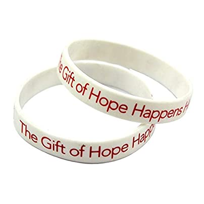 Sxuefang Silicone Wristbands With Sayings lsquo The Gift Hope Happens Here rsquo Rubber Wristbands For Men And Kids Encouragement Set Pieces Estimated Price £29.99 -