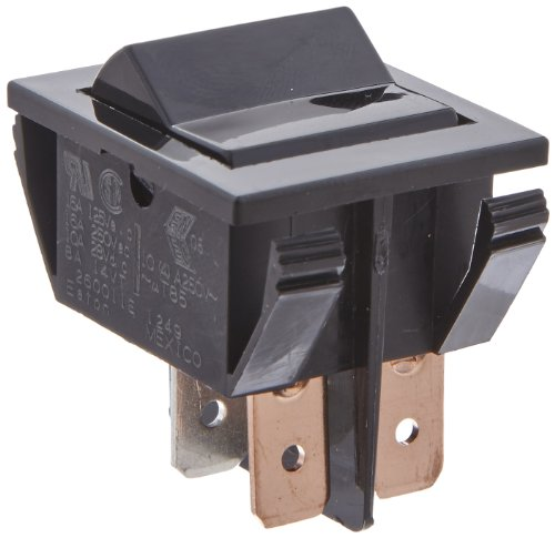Eaton 260011E Miniature Rocker Switch, On-None-Off Action, DPST Contacts