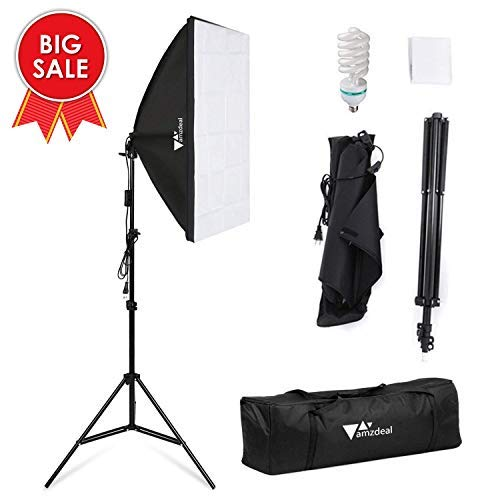 Amzdeal Softbox Lighting Kit 135W Continuous Photo Video Lighting System 19.7''X27.6'' Photography Soft Box Lights 5500K Studio Lights Equipment by amzdeal