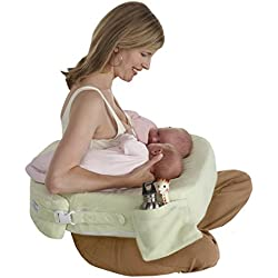 My Brest Friend Supportive Nursing Pillow For Twins 0-12 Months, Plus-Size, Light Green