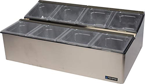 - San Jamar FP9248FL EZ-Chill Stainless Steel Food Prep Center, 25-1/4