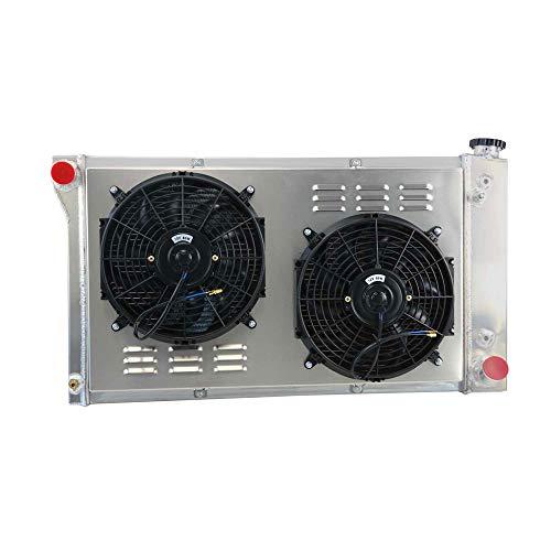 (OzCoolingParts New Designs 3 Row Core Full Aluminum Radiator + 2 x 12