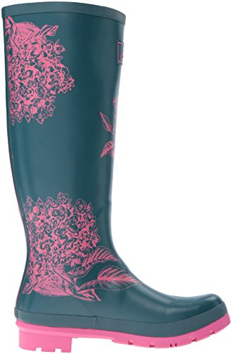 Print Rain Boot Welly Hydrangea Pine Joules Women's AFfxqq0