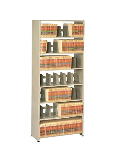 Tennsco 128848PC Imperial Open Shelf Filing Unit, Single Entry Starter, 8 Shelves/7 Openings, 48