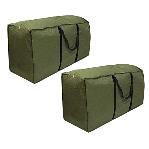 skyfiree 2 Pack Patio Cushion/Cover Storage Bag Rectanglar with Zippers and Handles 68 L x 30 W x 20 H Inch Waterproof Cover Furniture Storage Bag