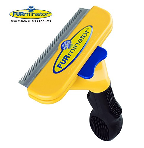 - Short Hair deShedding Brush for Large Dogs 51-90 Lbs Edge Blade FURminator Grooming Tool Comb