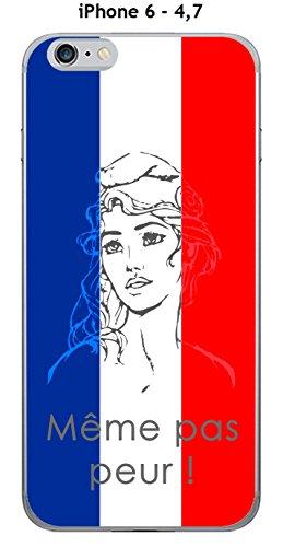 Cover Apple iPhone 6–4.7Design Marianne Meme non paura, Blu, Bianco Rosso