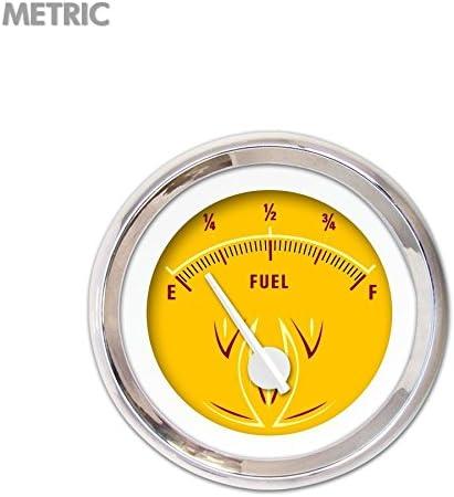 Aurora Instruments Pinstripe II Yellow Fuel Level Gauge 5724 GAR1120ZMXKABCD