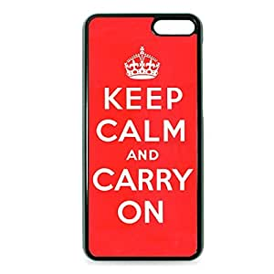 Case Fun Case Fun Red Keep Calm and Carry On Snap-on Hard Back Case Cover for Amazon Fire Phone