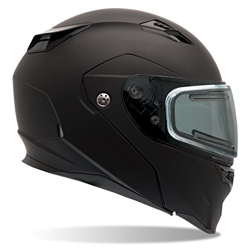 Bell Revolver Evo Rally Matte Black Modular Snowmobile Helmet with Electric Shi - Medium ()