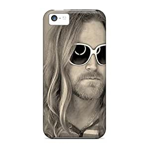 Shock Absorbent Cell-phone Hard Cover For Iphone 5c (mLy9403vDOt) Support Personal Customs Colorful Nirvana Skin