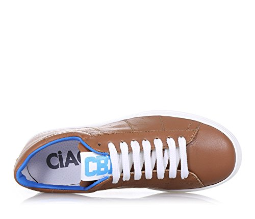 CIAO BIMBI - Zapato de cordones marrón de cuero con borde superior azul, la atención a cada detalle y capaz de combinar estilo, Niño, Niños