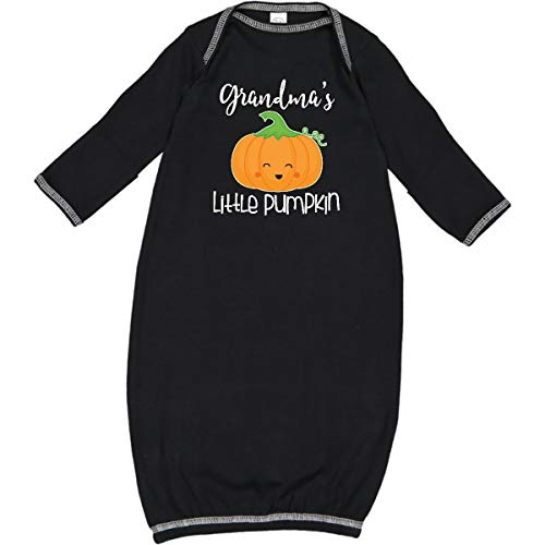 inktastic - Grandma Little Pumpkin Halloween Newborn Layette Black 2adb7