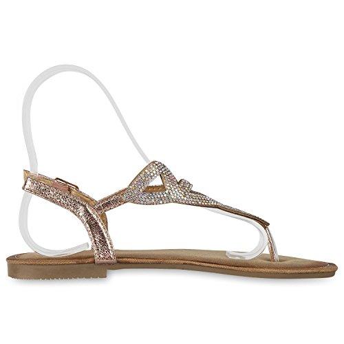 SCARPE VITA Damen Sandalen Zehentrenner Flats Sommer Schuhe Zehenspreizer  161787 Rose Gold 40 Flandell  Amazon.de  Schuhe   Handtaschen 88b68efbfa