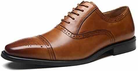 587ca8799de89 La Milano Mens Leather Cap Toe Lace up Oxford Classic Modern Business Dress  Shoes for Men