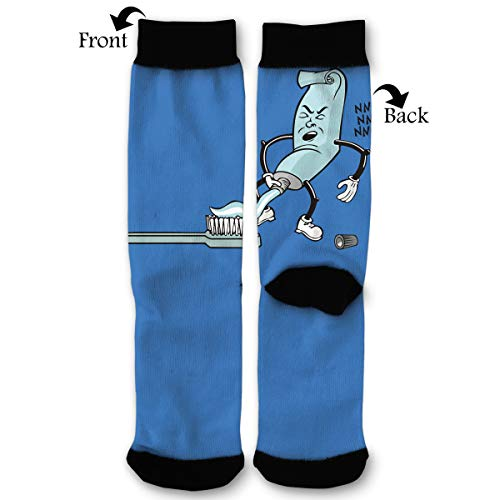 Pervert Toothpaste Men & Women Casual Cool Cute Crazy Funny Athletic Sport Colorful Fancy Novelty Graphic Crew Tube Socks