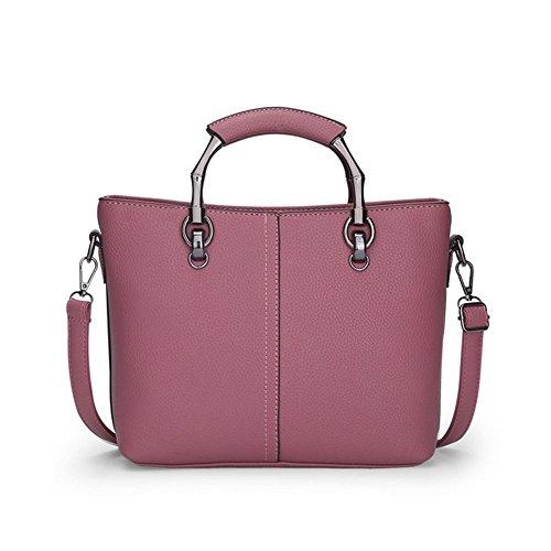 PU-Leder Handtasche Mini Schultertasche Damen Umhängetasche Tragetaschen Rubber red dNwALYj7T