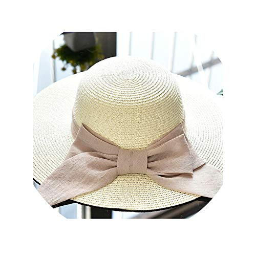 (Bow Knot Sun Hats for Women Large Brim Beach Hat Sunscreen Summer Caps for Female,09)