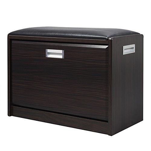 Giantex Wood Shoe Storage Cabinet Bench ...