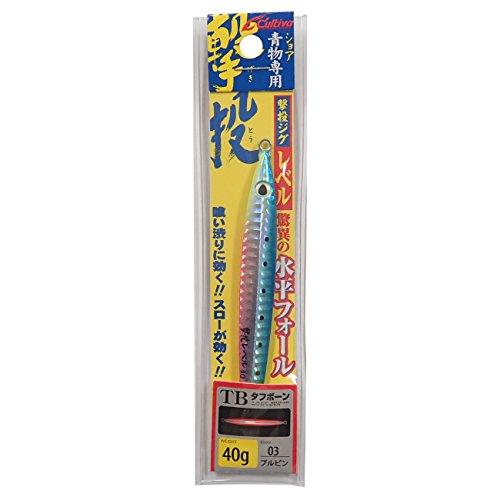 OWNER(オーナー) メタルジグ ルアー GJL-40 撃投ジグレベル 40g ブルピン #3 31871の商品画像