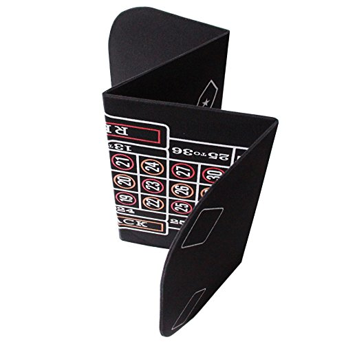 3 in 1 Folding Casino Texas Hold'em Table Top Black (Poker/Craps/Roulette) with Carrying Bag by IDS Home (Image #4)