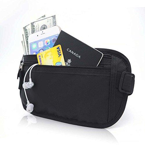 52dc296a65b1 Gama Money Belt for Travel RFID Blocking Fanny Pack, Hidden Passport ...